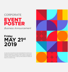 Business announcement card event poster vector