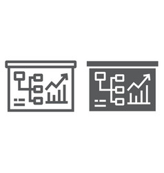 business plan line and glyph icon business and vector image