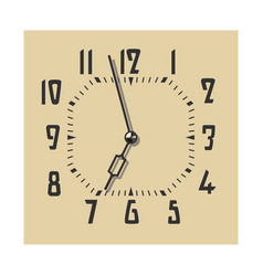 clock face in vintage color vector image