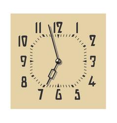 clock face in vintage color vector image