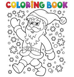 Coloring book santa claus in snow 2 vector