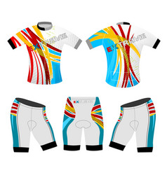 Colors motion graphics cycling vest vector