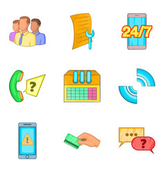 Cordless icons set cartoon style vector