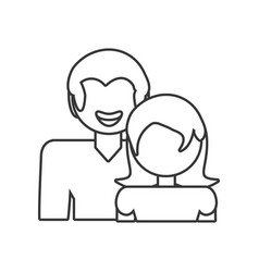 couple relationship family people outline vector image