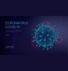 covid19 19 coronavirus concept healthcare medical vector image