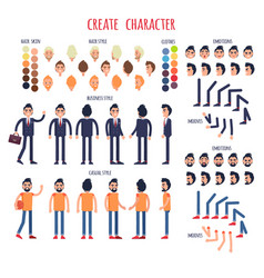 Create character set of business and casual style vector