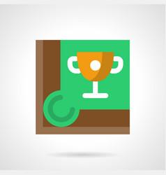 cue sport championship flat square icon vector image