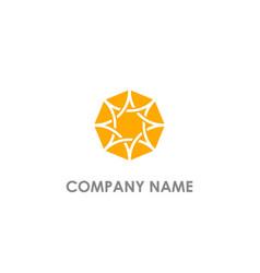 diamond abstract shine logo vector image