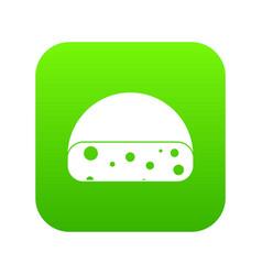 dutch cheese icon digital green vector image