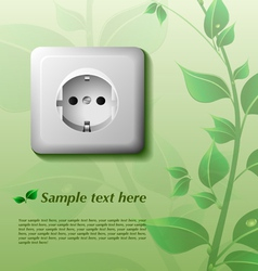 Eco background with power outlet vector image