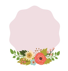 Elegant frame with bouquet vector