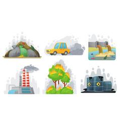 environmental pollution contaminated air vector image