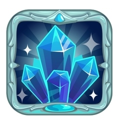 Fairy cartoon square crystals app icon vector
