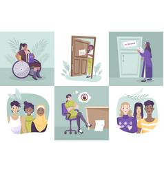 flat social justice composition set vector image