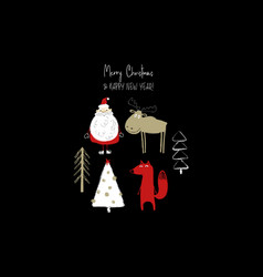 funny christmas greeting card vector image