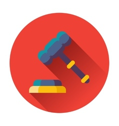 gavel with stand icon vector image