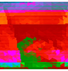 glitch art vector image