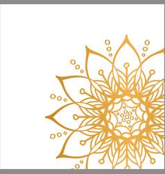 golden mandala isolated on white background vector image