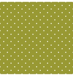 Green tile background with polka dots vector image