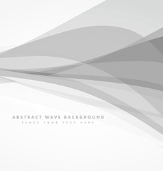 Grey whte abstract wave background design vector