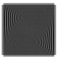 Grid mesh with deformation warp effect - set of vector