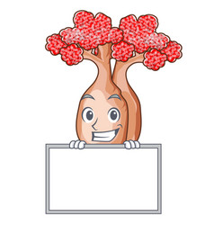 Grinning with board bottle tree in rose shape vector