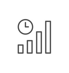 Growth rate line outline icon vector