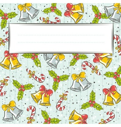 Grunge background with christmas elements vector