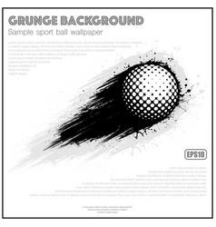 Grunge white golf splash moving vector