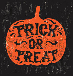 halloween quote typographical background made vector image
