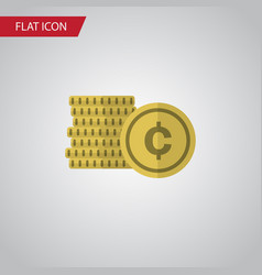 Isolated coin flat icon cash element can vector