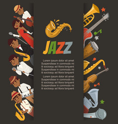 jazz festival or party with cartoon characters vector image