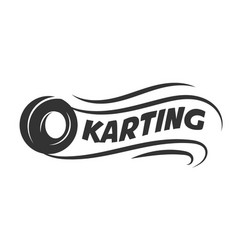 Karting club or kart races motor tire vector