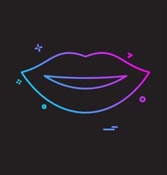 lips icon design vector image