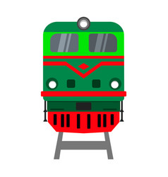 Locomotive front view vector
