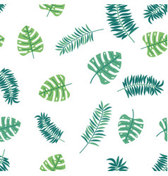 loral paradise tropic seamless pattern with green vector image