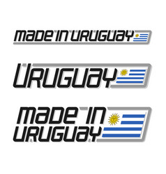 Made in uruguay vector