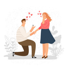 man on knees proposing vector image
