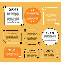 Modern quote text template design elements vector