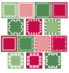 nordic square labels vector image