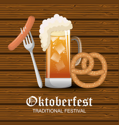 oktoberfest beer festival isolated vector image