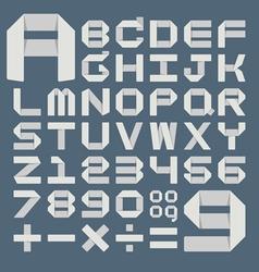 OrigamiAlphabet vector image