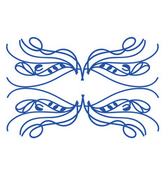 ornament frame hand drawn design on white vector image