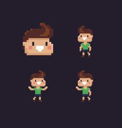 pixel art boy vector image