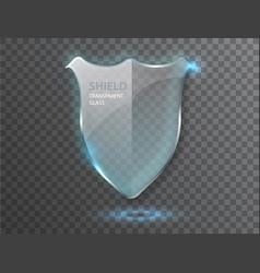 Protect guard glass shield concept transparent vector