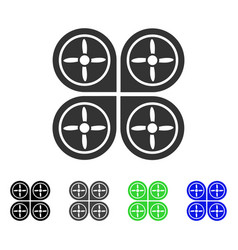 quadrocopter flat icon vector image