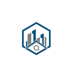 Real estate and inspection logo design for home vector