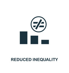 Reduced inequality icon creative element design vector