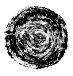 round watercolor stain with a grunge texture vector image