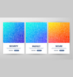 security flyer concepts vector image